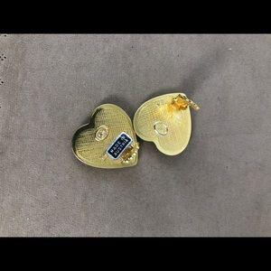 Michaela Frey Jewelry - Vintage Michaela Frey Heart Clip on Earrings